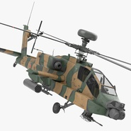 AH-64D Apache Longbow Japan Rigged. Preview 2
