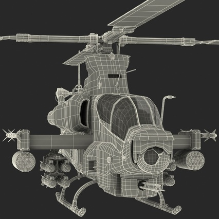 Attack Helicopter Bell AH 1Z Viper Rigged. Render 92