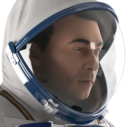 Russian Astronaut Wearing Space Suit Sokol KV2 Rigged for Maya. Render 33