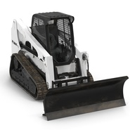 Compact Tracked Loader Bobcat With Blade Rigged. Preview 11