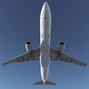 Jet Airliner Airbus A330-300 Qatar Rigged. Preview 12