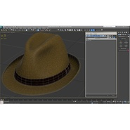 Fedora Hat Brown. Preview 24