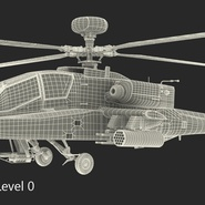 AH-64D Apache Longbow Japan Rigged. Preview 23