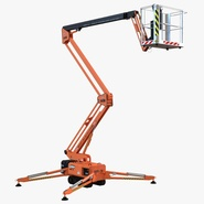 Telescopic Boom Lift Orange