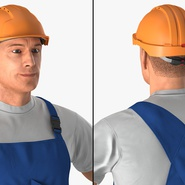 Construction Worker with Hardhat Standing Pose. Preview 8