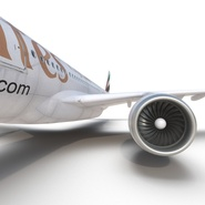 Jet Airliner Airbus A330-300 Emirates Rigged. Preview 47