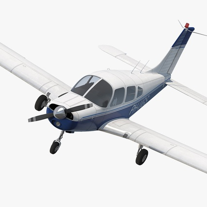 Piper PA-28-161 Cherokee Rigged. Render 2