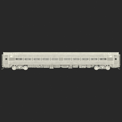 Railroad Amtrak Passenger Car 2. Render 4