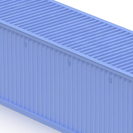 45 ft High Cube Container Blue. Render 25