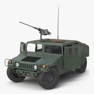 High Mobility Multipurpose Wheeled Vehicle Humvee Rigged