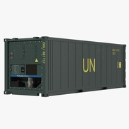 ISO Refrigerated Container Green