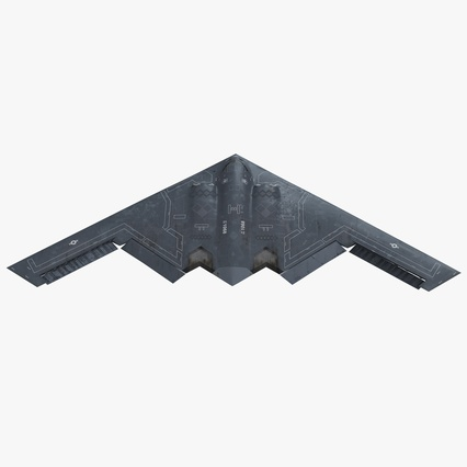 Stealth Bomber B-2 Spirit Rigged. Render 1