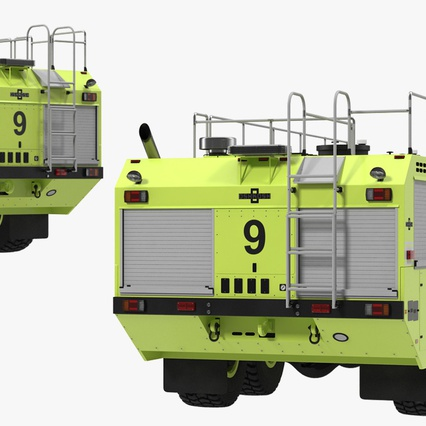 Oshkosh Striker 4500 Aircraft Rescue and Firefighting Vehicle Rigged. Render 16