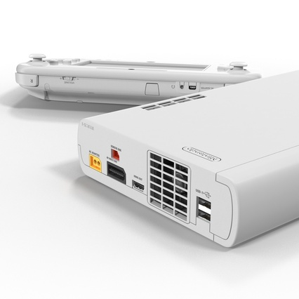 Nintendo Wii U Set White. Render 38