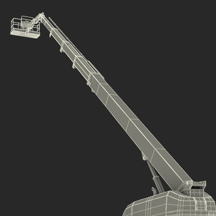 Telescopic Boom Lift Generic 4 Pose 2. Render 87