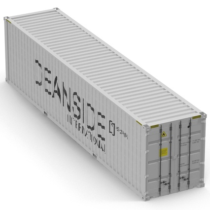 40 ft High Cube Container White. Render 16