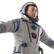 Russian Astronaut Wearing Space Suit Sokol KV2 Rigged for Maya. Preview 26