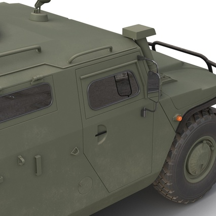 Russian Mobility Vehicle GAZ Tigr M Rigged. Render 41