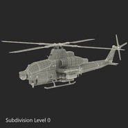 Attack Helicopter Bell AH 1Z Viper Rigged. Preview 85