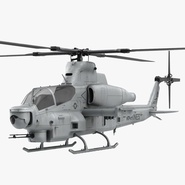 Attack Helicopter Bell AH 1Z Viper Rigged 2