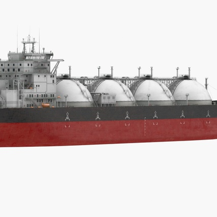 Gas Carrier Ship. Render 3