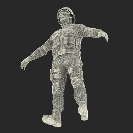 SWAT Man Mediterranean Rigged for Maya. Render 53