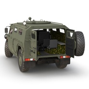Russian Mobility Vehicle GAZ Tigr M Rigged. Preview 20