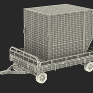 Airport Transport Trailer Low Bed Platform with Container Rigged. Preview 7
