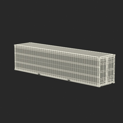 40 ft High Cube Container White. Render 4