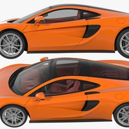 Sports Car McLaren 570GT 2017 Simple Interior. Preview 17