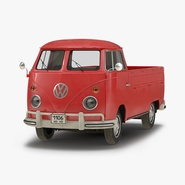 Volkswagen Type 2 Single Cab Pick-Up Simple Interior Red