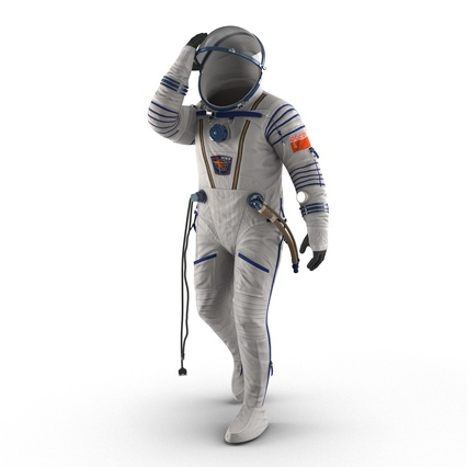 Russian Space Suit Sokol KV2 Rigged. Render 20