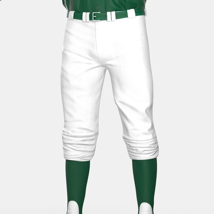 Baseball Player Outfit Athletics 3. Render 24
