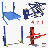 Car Lifts Rigged Collection 2