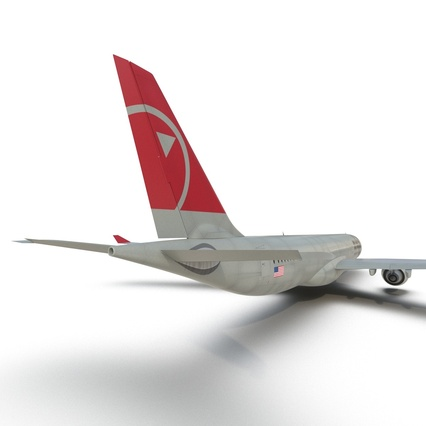 Jet Airliner Airbus A330-300 Northwest Airlines Rigged. Render 41