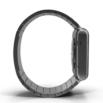 Apple Watch 38mm Link Bracelet Dark Space 2. Render 15