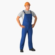 Construction Worker with Hardhat Standing Pose. Preview 3