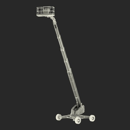 Telescopic Boom Lift Generic 4 Pose 2. Render 74