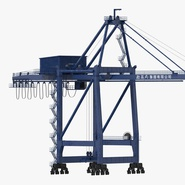 Container Crane Blue. Preview 3