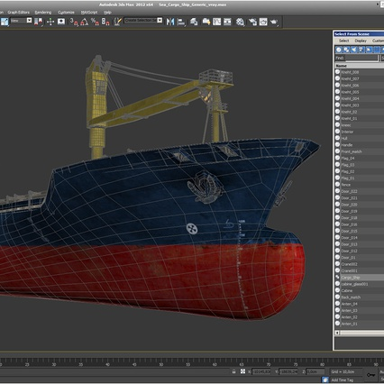 Sea Cargo Ship Generic. Render 28
