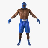 African American Boxer Rigged for Cinema 4D. Preview 3
