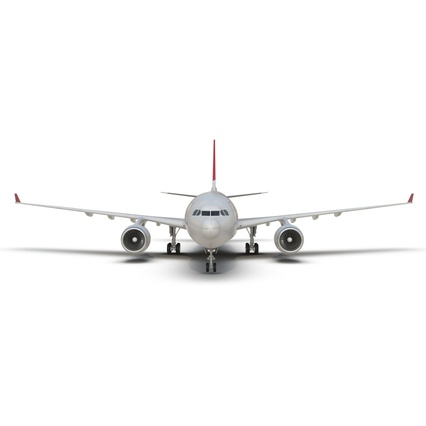 Jet Airliner Airbus A330-200 Northwest Airlines Rigged. Render 21
