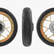 Sport Motorcycle Back Wheel. Preview 7