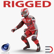 Motorcycle Rider 2 Rigged for Cinema 4D
