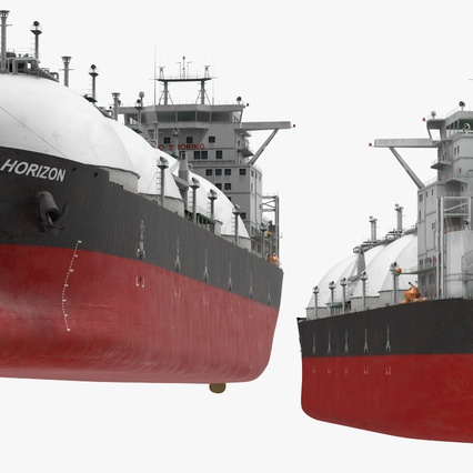Gas Carrier Ship. Render 9