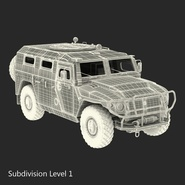Russian Mobility Vehicle GAZ Tigr M Rigged. Preview 65