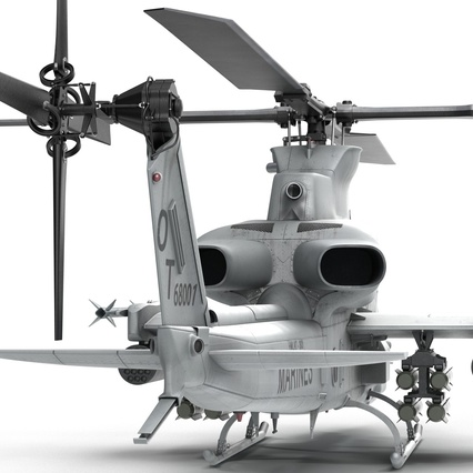 Attack Helicopter Bell AH 1Z Viper Rigged. Render 41