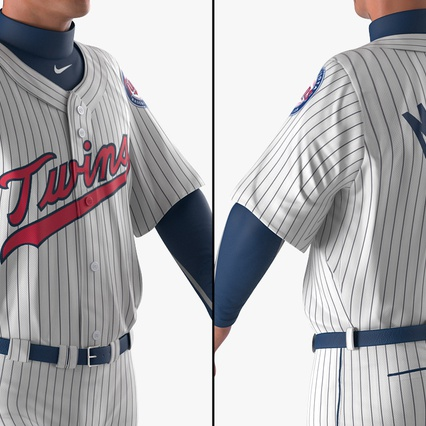 Baseball Player Rigged Twins 2. Render 15