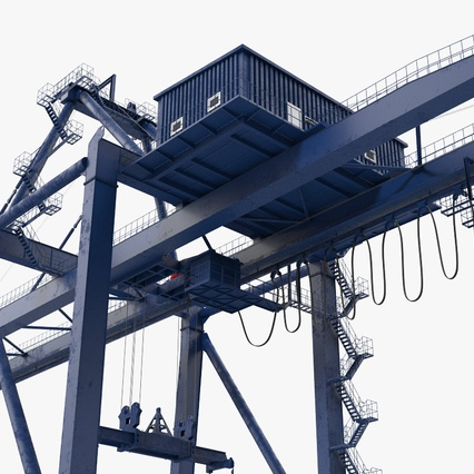 Container Crane Blue. Render 16