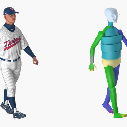 Baseball Player Rigged Twins 2. Render 4